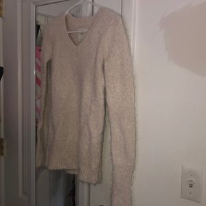 Abercrombie and Fitch Cream with Glitter SIZE XS!